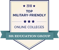 2018 Top Military Friendly Online College by SR Education Group