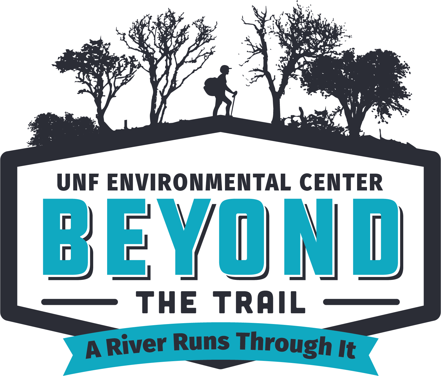 UNF Environmental Center Beyond the trail a river runs through it logo