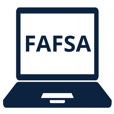 Icon of a computer with FAFSA on screen
