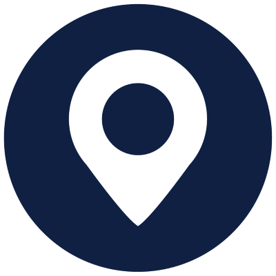 map icon  with a blue background