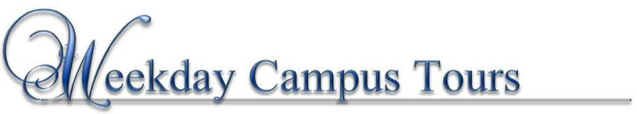 Weekday Campus Tour Text Header