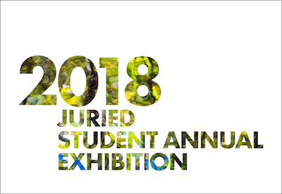 2018 Art and Design Juried Student Annual Exhibition logo