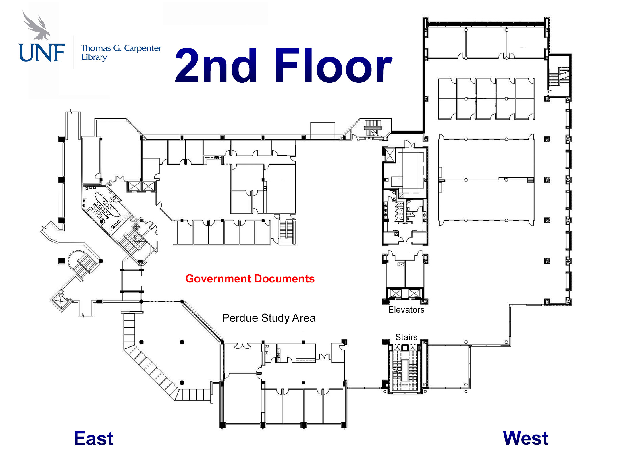graphic relating to Unf Printable Map identified as Wherever can I track down area maps of the library? - FAQ