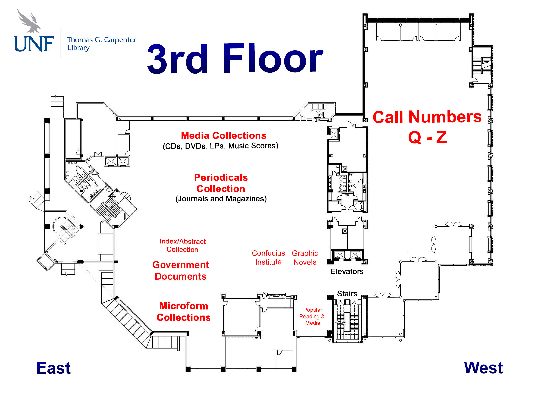 picture about Unf Printable Map identified as Exactly where can I come across flooring maps of the library? - FAQ