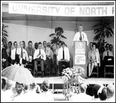 J. J. Daniel speaking at UNF Groundbreaking, September 18, 197l
