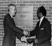 Drs. Carpenter, Robinson, Dedication of Carpenter Library, 1981 - thumbnail