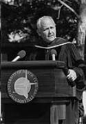 William V. Chappell, Jr., speaking at UNF degree ceremony, 1987
