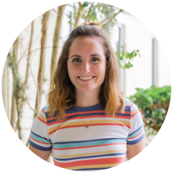 Headshot of Erin, a UNF student, wearing a striped shirt
