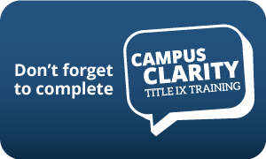 Campus Clarity logo that says - Don't forget to complete Campus Clarity
