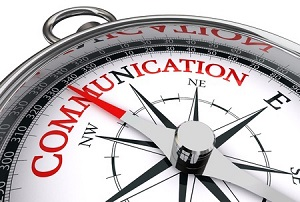 a compass with the word - communication - on it