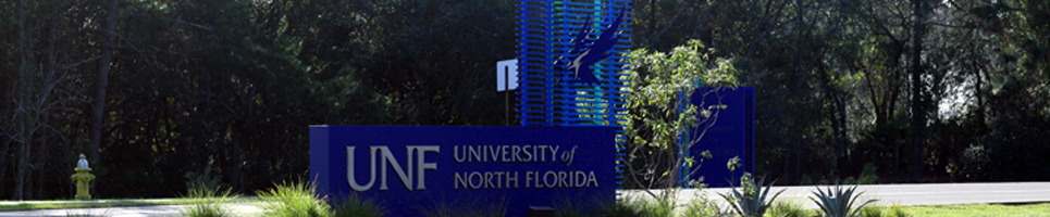 UNF Campus Entrance sign on Kernan Boulevard