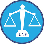Scales of justice and UNF logo
