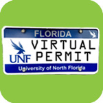 Picture of a UNF license plate