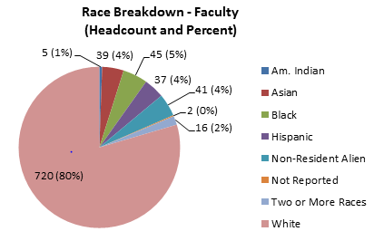 Chart A - Race Breakdown - Faculty