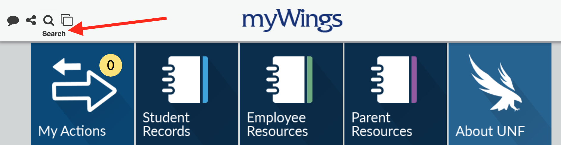 myWings Search screenshot