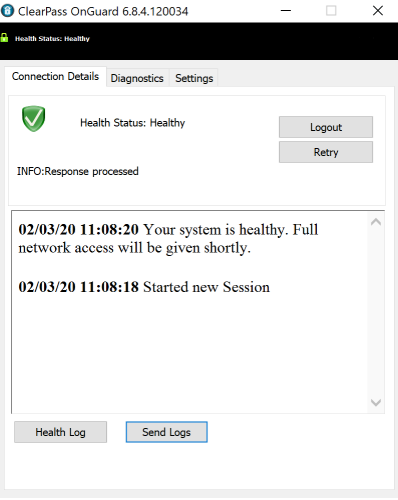 Healthy Computer - No additional action needed