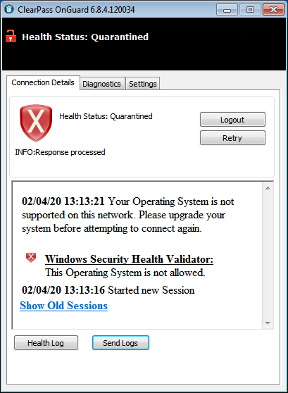 OS Unsupported - Must upgrade system