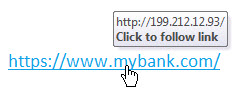 Example of hovering over a link