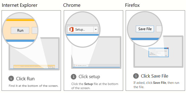 Internet Browser install pop up options