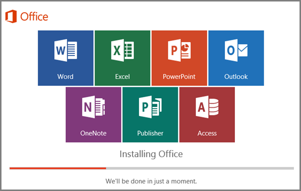 Installing Office 365 Progress