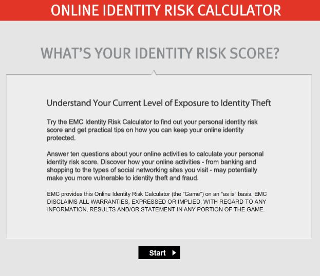 Online Identity risk Calculator