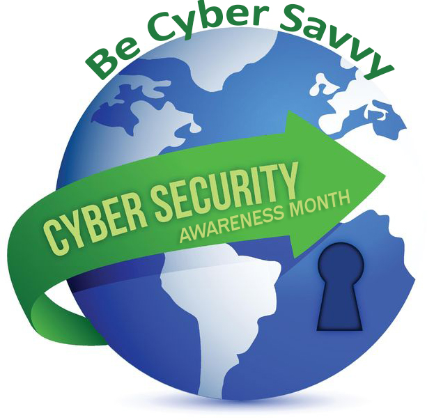 cyber security awareness month globe