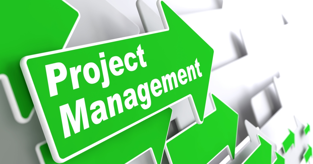 Arrows with Project Management text