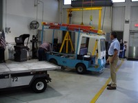 Vehicle maintenance being performed