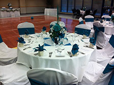 Blue & White Wedding setup