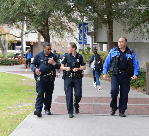 UPD walking on campus at UNF