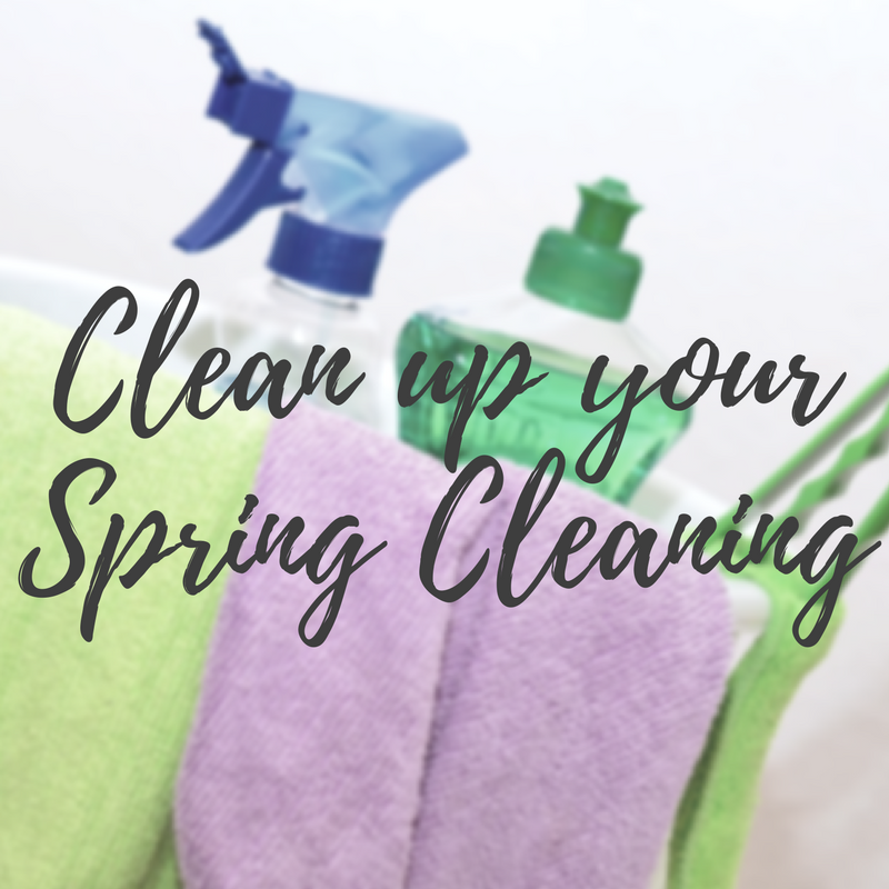 Clean up your spring cleaning