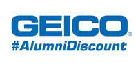 geico insurance logo with text #alumnidiscount