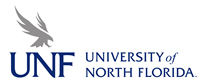 UNF horizontal blue and gray logo