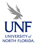 UNF vertical blue and gray logo