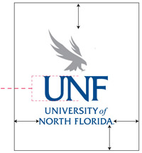 UNF Logo showing clearzone should be equal to the height of the monogram on all sides