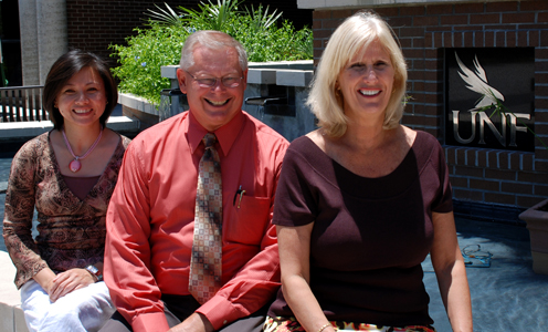 International Award winners Dr. Teresa Tuason, Floyd Hurst and Dr. Marsha Lupi