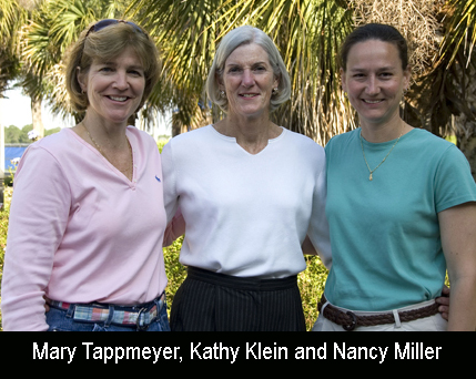 Mary Tappmeyer, Kathy Klien and Nancy Miller