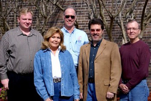 Environmental Health and Safety staff members Brandon Smith, Penny Genter, Fred Berbig, Dan Endicott and Garry Clay