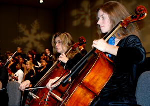Cellists playing during last year's Feast of Carols event (photos by Ashley Earles-Bennett)