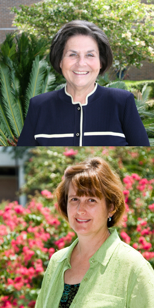 Drs. Cheryl Fountain (top, photo by Julie Williams) and Kathryn Krudwig (photo by Mario Peralta)