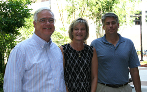 Drs. Joseph Campbell and James Fletcher with Cathy Hagan, standing in for Dr. Janice Donaldson (Photo by Julie Williams)