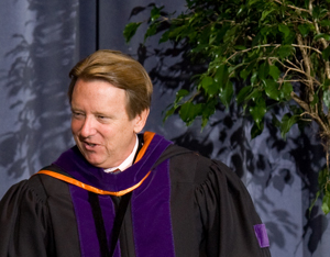 UNF President John Delaney at Convocation (photo by Mario Peralta)