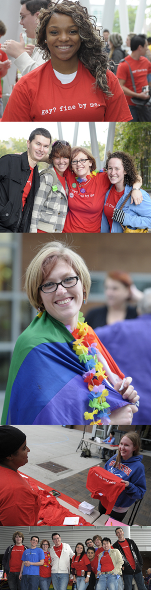 UNF students and employees at the 'Gay? Fine by Me' awareness event at the Student Union (photos by Nick Uselman)