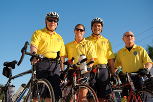 UNF staff members took part in a Sept. 11 memorial bike ride to honor fallen heroes.