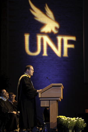 Dr. Thomas Pekarak, physics, was named the 2011 Distinguished Professor at UNF.