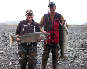 Dana Barry McCoy (left) and her husband, Barry (right) celebrated their 25th wedding anniversary with a trip to Alaska.