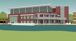 Artist's rendering of what a four-story facility housing a new Osprey Café would look like