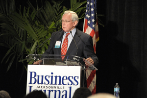 Dr. Yank Coble was awarded a lifetime achievement award by the Jacksonville Business Journal (photo by Nick Uselman)