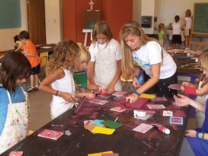 Children can explore their creativity at MOCA's summer art camp.