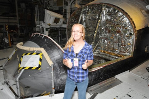 UNF students Chelsea Partridge spent her summer vacation working on the space shuttle.